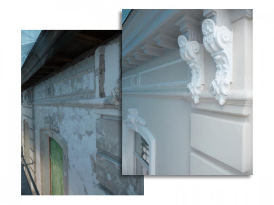 Renovatie en afwerking ornamenten