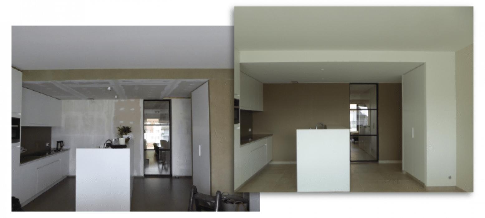 Schilderwerken keuken- wanden en plafond