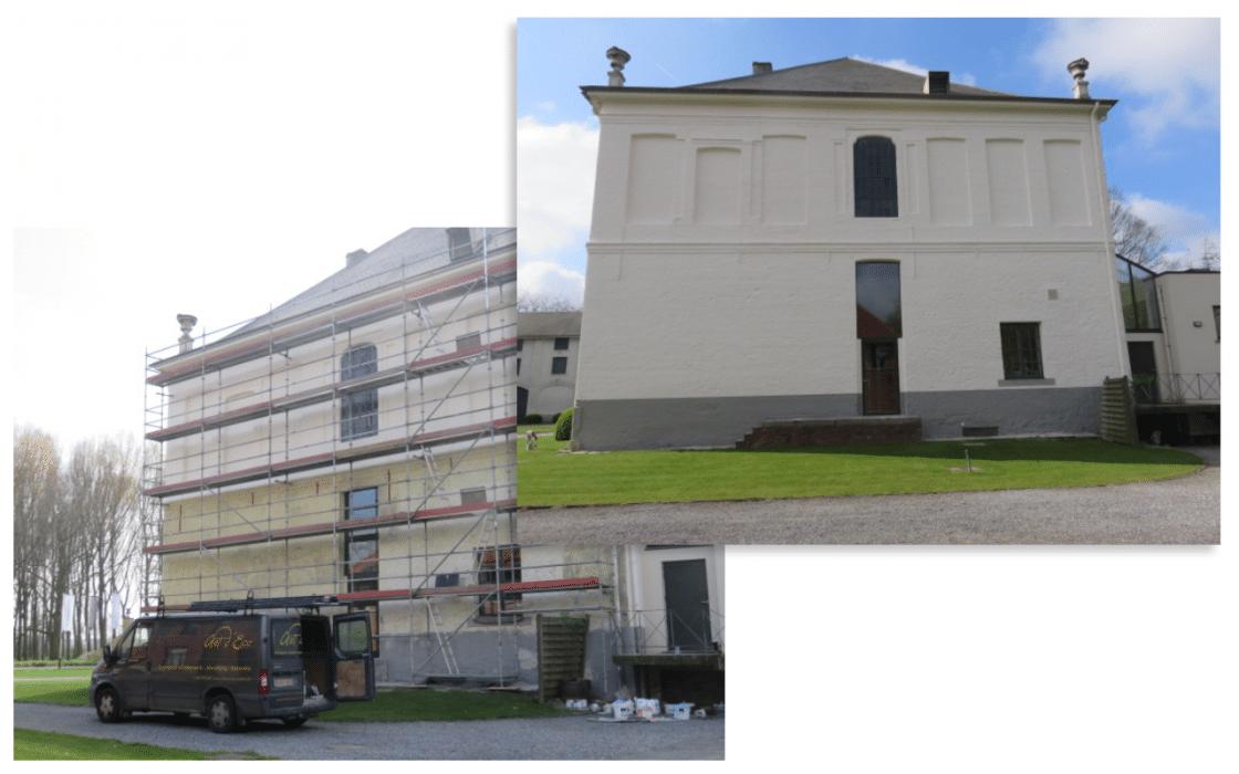 schilderen-buitenmuur voor en na