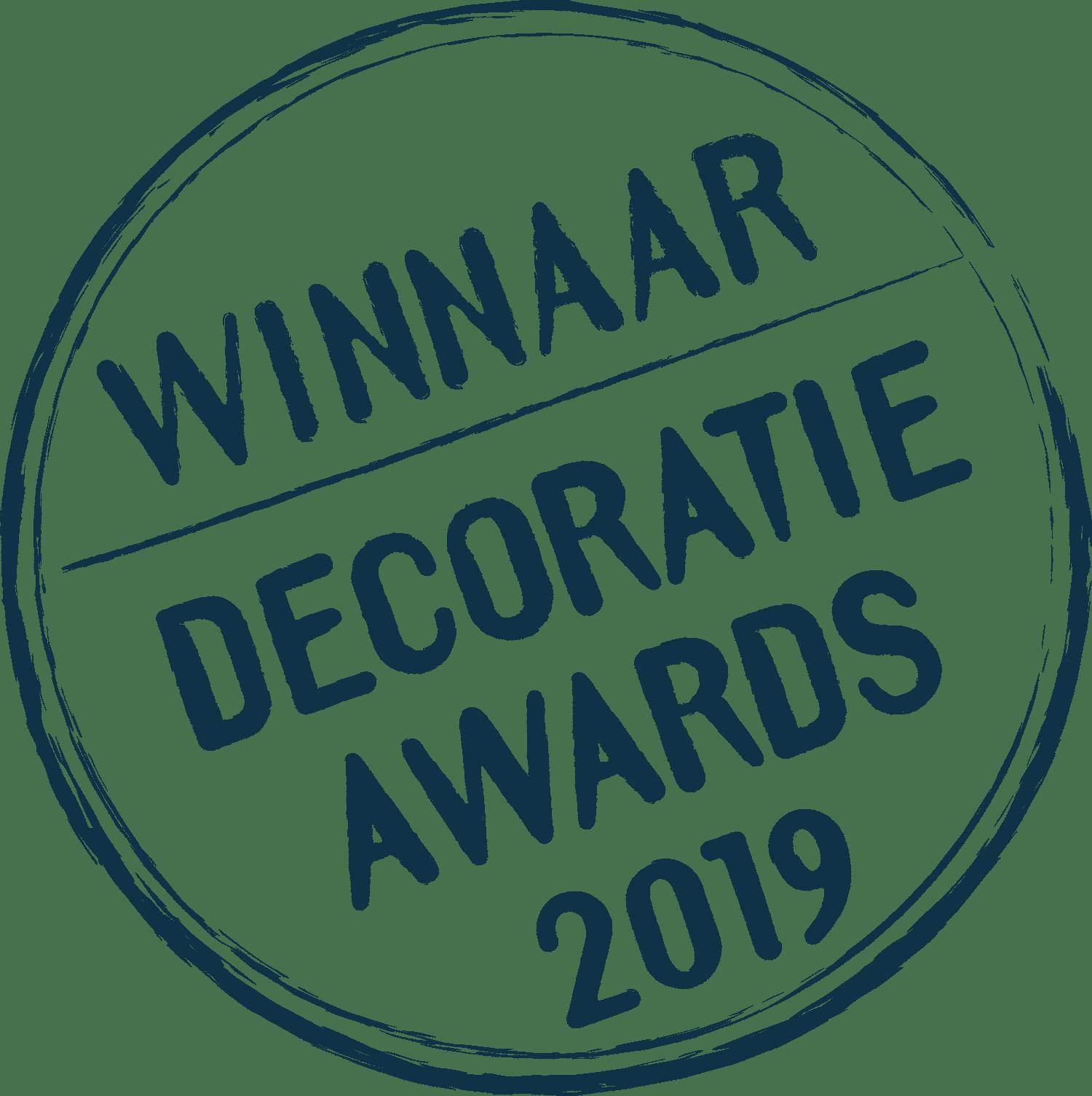 Winnaar Decoratie Awards 2019